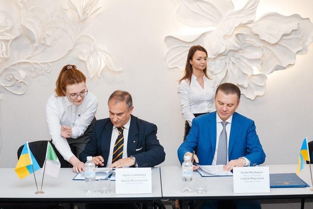 Memoranda of Cooperation with the Chambers of Commerce of Italy and Israel were signed in Vinnytsia
